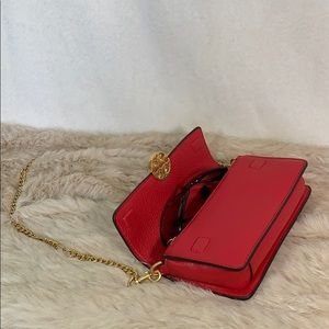 Tory Burch Bags - Tory Burch Chelsea Chain Pouch in Red